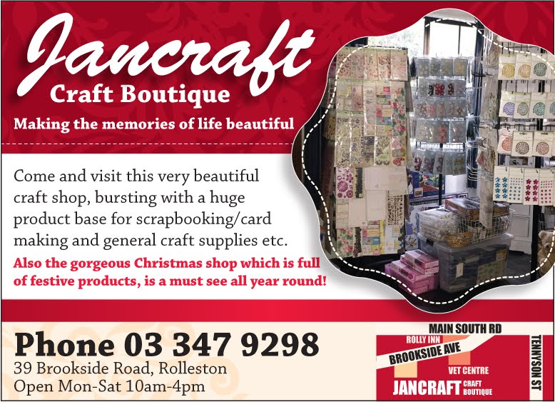 Jancraft for all your scrap book and craft supplies